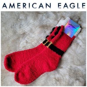 American Eagle Santa Christmas Crew Socks
